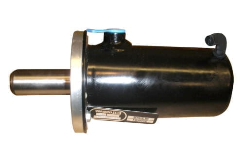 Locking cylinder for self tracking axle SAF