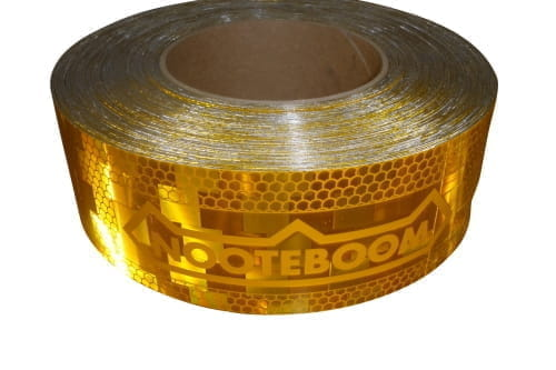 Reflecterende markerings tape, geel L=50mtr