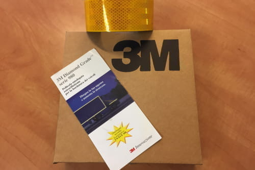 Marker tape, yellow, reflective L=150mtr