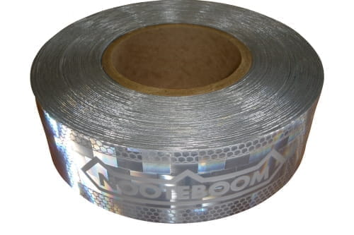 Marker tape white, reflective L=50mtr