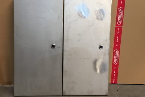 Lid steering box, stainless steel artificial pearl