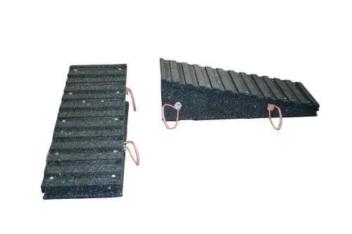 Kunststoff Auffahrrampe L1200xB450 H100-350 50T