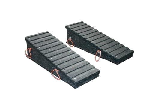 Kunststoff Auffahrrampe L1200xB450 H100-350 100T