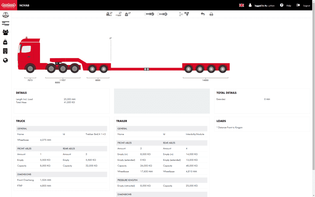 NOVAB 3 0 Axle load calculation - Nooteboom Trailers