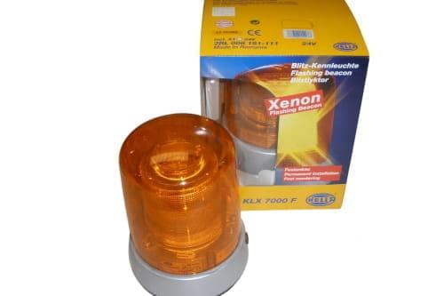 Strobe beacon 24V 38W D155 Amber