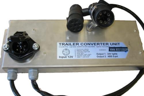 Converterunit 12v-24v met plc-box