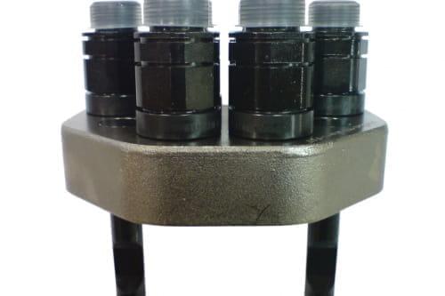 Hydr.multikupplung losehälfte 6-fach