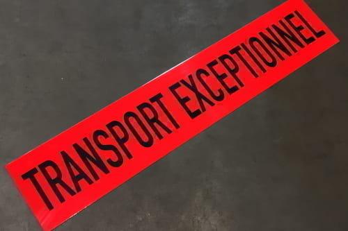 Plate 'Transport Exceptionnel' 1250x250x2 Orange