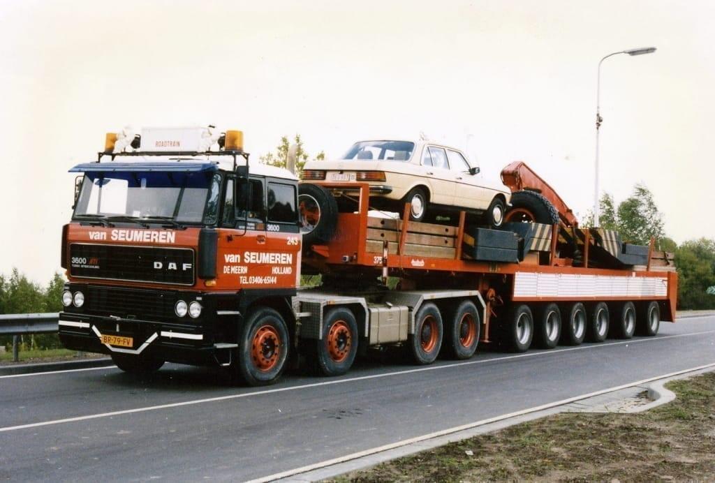 First Nooteboom Ballasttrailer in 1985