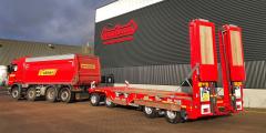 Nieuwe ASDV aanhangwagen semidieplader met wielkuilen