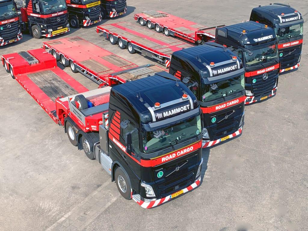 Mammoet Road Cargo heeft haar vloot versterkt met een serie nieuwe Nooteboom trailers.