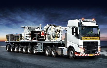 Nooteboom Ballasttrailer 7-axle+volvo6x4