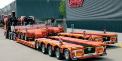 Hüffermann Krandienst expands its heavy haulage fleet by 4 new Nooteboom lowloader combinations