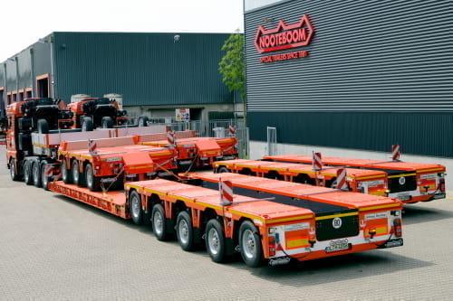 Hüffermann Krandienst rozszerza flotę naczep do ciężkiego transportu o 4 nowe pojazdy Nooteboom
