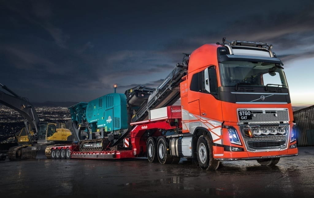 Nooteboom EUROPX 4-axle + Volvo6x4 - november 2016