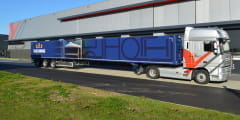 Nooteboom Teletrailer with special Netcap sliding canopy system