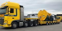 Vier Nooteboom Manoovr semidiepladers voor Ter Linden Transport