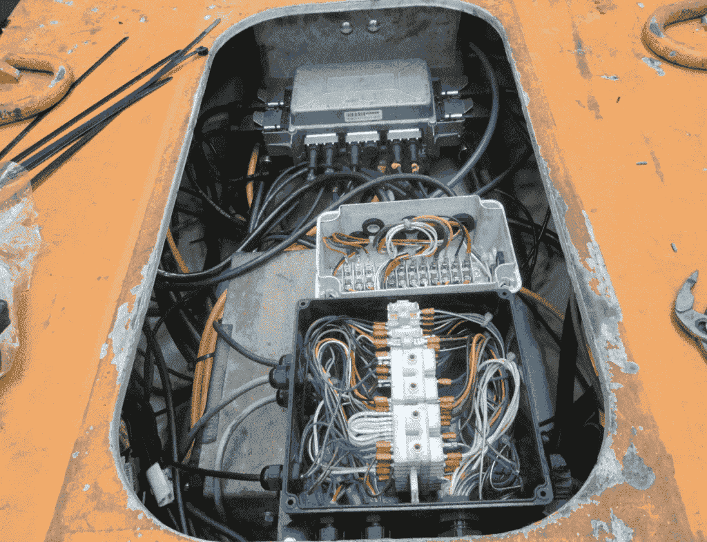 The electronic systems were almost entirely replaced